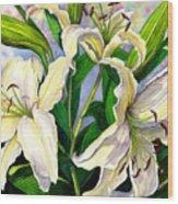 Daylilies 2 Wood Print