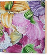 Daylillies Wood Print
