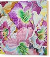 Daylilliesll Wood Print