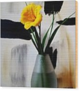 Daylily Abstract Wood Print