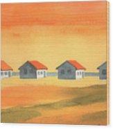 Days Cottages Wood Print