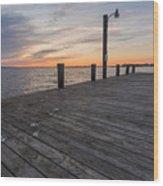 Days End Dock Wood Print
