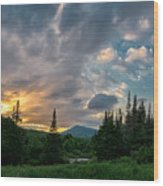 Days End In The Bog Wood Print