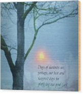 Days Of Darkness Wood Print