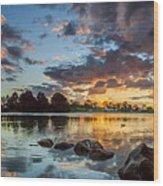 Days Reflection Wood Print