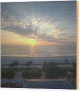 Daytona Beach Sunrise Wood Print