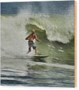 Daytona Beach Surfing Day Wood Print