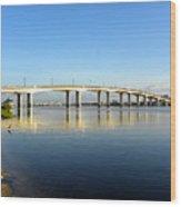 Daytona Beach's Broadway Bridge  Wood Print