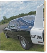 Daytona Charger Wood Print