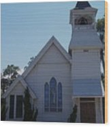 Daytona Church Wood Print by Kim Zwick