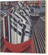 Dazzle Ships In Drydock At Liverpool Wood Print