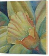 Dazzling Daffodil Wood Print