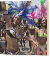 Dc Caribbean Carnival No 8 Wood Print by Irene Abdou