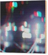 Dc Lights - Use Red-cyan 3d Glasses Wood Print