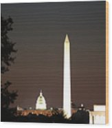 Dc Monuments Triumvirate Wood Print
