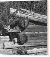 Ddp Djd B And W 1880s Log Cabin Ruins Montana 2 Wood Print