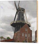 De Adriann Windmill - Haarlem The Netherlands Wood Print