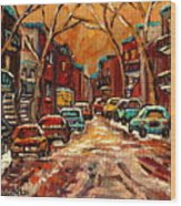 De Bullion Street Montreal Wood Print