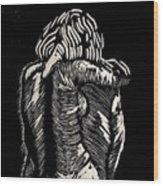 De Espalda Wood Print