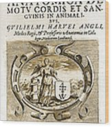 De Motu Cordis, Title Page, William Wood Print