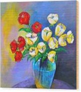De Rosas Y Azucenas Wood Print