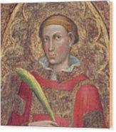 Deacon Saint, With Saint Anthony Abbot Wood Print