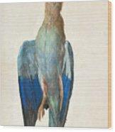 Dead Blue Roller Wood Print