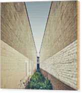 Dead End Alley Wood Print