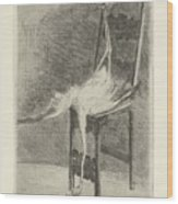 Dead Flamingo With The Legs Tied To The Handrail Of A Chair, Adriaan Pit, 1870 - 1896 Wood Print