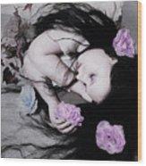 Dead Roses Wood Print