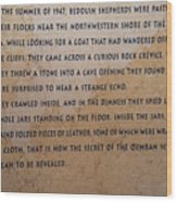 Dead Sea Scroll Document Wood Print
