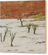 Dead Vlei Namibia Wood Print