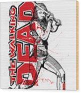 Deadly Michonne Wood Print