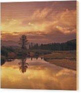 Deadwood River Sunrise Wood Print
