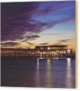 Deal Pier Wood Print