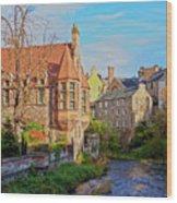 Dean Village, Edinburgh, Scotland Wood Print