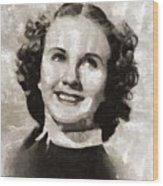 Deanna Durbin, Actress Wood Print