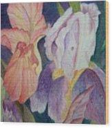 Dear Iris Wood Print