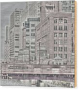 Dearborn Street Bridge Wood Print