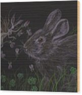 Dearest Bunny Eat The Clover And Let The Garden Be Wood Print