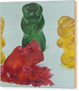 Death Of A Gummy Bear II Wood Print