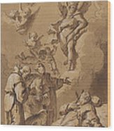 Death Of A Holy Friar Wood Print