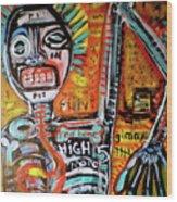 Death Of Basquiat Wood Print