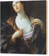 Death Of Cleopatra 1598 Wood Print