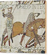 Death Of Harold, Bayeux Tapestry Wood Print