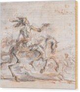 Death On The Battlefield Wood Print