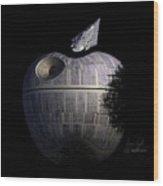 Death Star Apple Wood Print