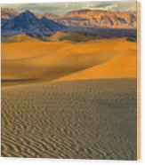 Death Valley Golden Hour Wood Print