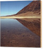 Death Valley Lake Wood Print