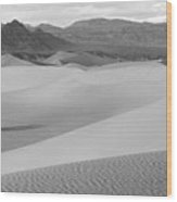 Death Valley Panoramic Sand Dunes Wood Print